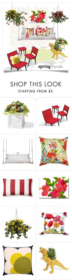 """Springtime Sunroom"" by metter1 ❤ liked on Polyvore featuring interior, interiors, interior design, home, home decor, interior decorating, Grandin Road, Lowcountry Originals, Nearly Natural and MacKenzie-Childs"
