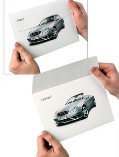 Me encanta la buena publicidad Mailing de Mercedes Benz ¿Coupé o cabrio?