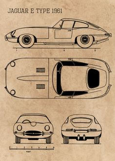 Jaguar e type 1961 classic cars blueprint Jaguar E Type 1961, Car Drawing Pencil, Cool Car Drawings, Preppy Car, Wooden Toy Cars, Blueprint Art, Ford Classic Cars, Car Posters, Futuristic Cars