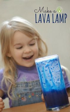 Make a lava lamp and and wow the kids with a fun and easy science experiment! #ECE #Science #PreK