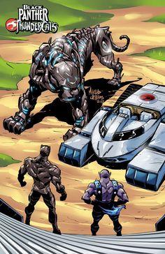 Black Panther X Thundercats Comic Book Characters, Comic Book Heroes, Comic Character, Comic Books Art, Comic Art, Marvel Dc Comics, Marvel Heroes, Anime Comics, Black Panther Art