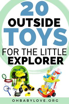 20 of the Best Outside Toys for Kids of all Ages! Starting at toddlers! Keep your little one exploring outside all day long with these fun toys! Toddler Playroom, Toddler Age, Toddler Toys, Kids Toys, Outside Toys For Toddlers, Outdoor Activities For Toddlers, Best Outdoor Toys, Outdoor Toys For Kids, Toddler Bounce House