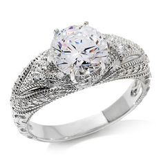 Xavier 2.33ct Absolute™ Solitaire Wide Band Ring