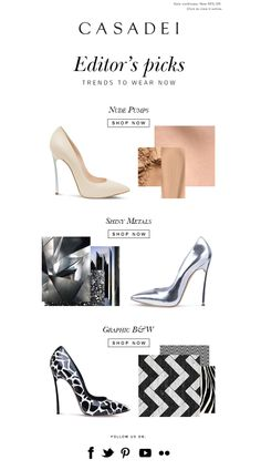 #newsletter Casadei 02.2014  It's Fashion Week again: Style your personal catwalk! | New Arrivals