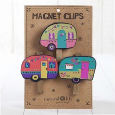 These adorable magnet clips will hold important pictures, papers, invitations and more on your fridge while creating happiness every time you see them!