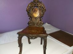 Antique Hand Carved Chair Black Forest c1880 FREE SHIPPING