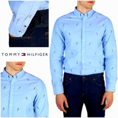 Gender:Man Type:Shirt Fastening:buttons Sleeves:long Material:cotton Washing:wash at C Model height, Model wears a size:M Collar:button-down Fit:regular Details:visible logo Men Shirt, Tommy Hilfiger, Shirt Dress, Chic, Clothing, Model, Sleeves, Mens Tops, Cotton