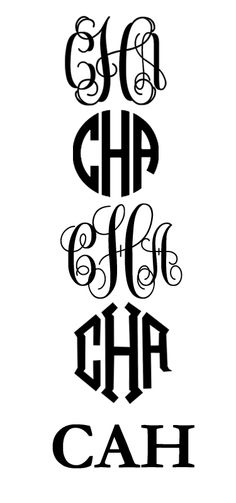 DIY Monogram Fonts