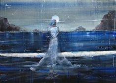 """Saatchi Art Artist OSCAR ALVAREZ; Painting, """"Cartas a la Luna"""" #art"""
