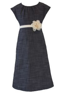 Chambray Flower Dress Front