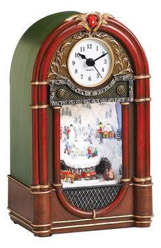 Roman 'Vintage Radio' LED Musical Clock