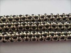 how to make this bracelet in chenille rope  ~ Seed Bead Tutorials
