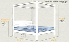 Four Poster Bed Size and Dimensions