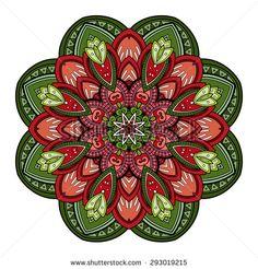 Illustration of Vector Beautiful Deco Colored Mandala, Patterned Design Element, Ethnic Amulet vector art, clipart and stock vectors. Mandala Design, Mandala Pattern, Lotus Mandala, Mandala Art Lesson, Mandala Drawing, Blog Backgrounds, Photo Images, Circle Art, Art Design