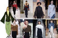 Extra lange mouwen: impressies van de catwalk shows AW 16/17 #fashion #aw16 #aw17 #trends #sleeves