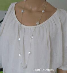 Perlenkette+lang+925+Silber+von+Edelsteinreich+auf+DaWanda.com