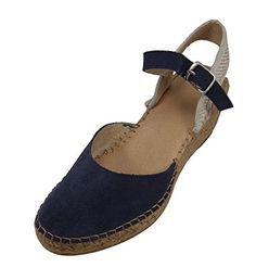 a931af5f518 Alpargatus Valenciana Leather Blue 40 EU 9 95 US Women -- See this great  product