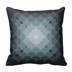 circles overlap throw pillow