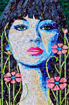 After my foray into paper mosaic art, I have so much respect for those artists…
