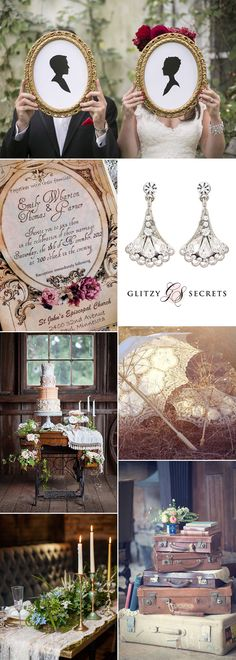 Gorgeous ideas for a vintage wedding theme. From white wedding dresses to tiered wedding cakes, the Victorians were the most prolific initiators of wedding trends ever! It's amazing that so many of the elements that first appeared well over one hundred years ago are still with us now