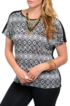 DHStyles Women's [HOT SELLER] Black Charcoal Plus Size Trendy Tribal Print Bandaged Back Top #sexytops #clubclothes #sexydresses #fashionablesexydress #sexyshirts #sexyclothes #cocktaildresses #clubwear #cheapsexydresses #clubdresses #cheaptops #partytops #partydress #haltertops #cocktaildresses #partydresses #minidress #nightclubclothes #hotfashion #juniorsclothing #cocktaildress #glamclothing #sexytop #womensclothes #clubbingclothes #juniorsclothes #juniorclothes #trendyclothing…