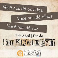 Dia 7 de Abril - #DiadoJornalista   #AconteceCerimonial