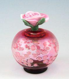 Artist: Alexandra & Chris Pantos, Title: Roses Topper, Pink Bottle