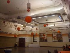 Orange, Ivory, Cinnamon Round Lanterns