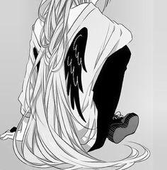 anime girl black and white - Google 搜尋