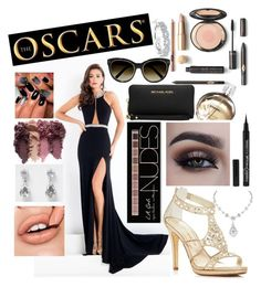 """""""The Oscars"""" by jessklesel ❤ liked on Polyvore featuring Rachel Allan, Caparros, Michael Kors, Charlotte Russe, River Island, Chanel, Karl Lagerfeld and Chloé"""