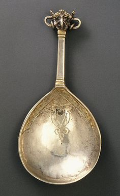 Crown-top spoon (one of three)Date: 16th century Culture: Swedish Medium: Silver, parcel-gilt Dimensions: 4 3/8 in. (11.1 cm)
