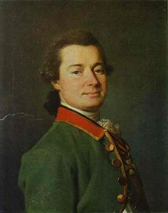 """Портрет Е. И. Palmenbach"", масло по Dmitry Grigoryevich Levitsky (1735-1822, Ukraine)"