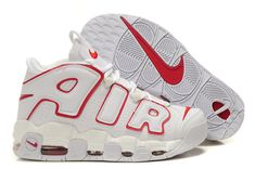 quality design af968 b7c81 Nike Air More Uptempo White Varsity Red Basketball Shoes Discount Sneakers, Sneakers  Nike, Air