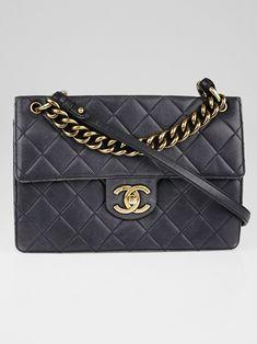 e6691b3ad Chanel Black Quilted Caviar Leather Retro Class Jumbo Flap Bag - Yoogi's  Closet