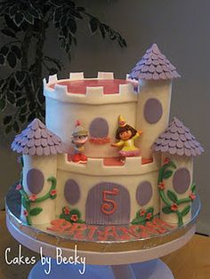 Dora the Explorer Princess Castle cake :)