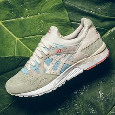 """KIX   LIDZ  Asics Gel-Lyte V """"Reef Water Birch"""".Evoking the seaside, the  sneaker s leather and textile construction is layered in earthy tones,  aquatic blue ... a25304966e"""