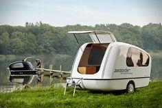 sealander amphibious camping trailer designboom