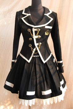 Infanta Edward Boarding School Jacket Skirt Set $103.99 - Lolita Skirts - Lolita Dresses - My Lolita Dress