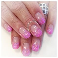 Young Nails acrylic glitters pink neon