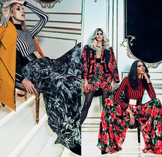 Balmain 2015 Pre Fall Autumn Womens Lookbook Presentation - Disco 1970s Seventies Wide Leg Palazzo Pants Velvet Stripes Tiered Ruffles Fringes Flare Bell Bottoms Outerwear Coat Jacket Blazer Turtleneck Flowers Florals Fauna Leaves Foliage Blouse Stockings Tights Miniskirt Sheer Chiffon Wide Belt Halter Top Dots Wrap One Shoulder Accordion Pleats Dress Gown Furry Flapper Bejeweled