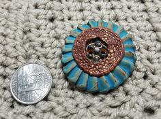 Hey, I found this really awesome Etsy listing at https://www.etsy.com/listing/557999413/ceramic-buttons-blue-around-brown