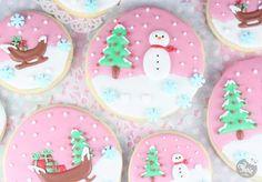 Biscuits décorés boules de neige