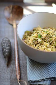 Indian Inspired Black Radish & Mung Bean Salad