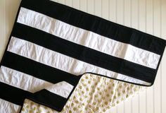 Black and White Gold Stripe Polka Dot Quilt Ready to Ship © SewEMG 2014 All Rights Reserved There is nothing more classic and stunning as stripes and