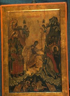 """Anastasis,"" The Sinai Icon Collection Byzantine Icons, Byzantine Art, Liturgical Seasons, Constantine The Great, Paint Icon, Life Of Christ, Best Icons, Icon Collection, Orthodox Icons"