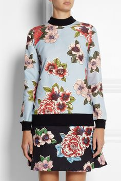 Clements Ribeiro|Chita floral-print cotton-blend sweater|NET-A-PORTER.COM