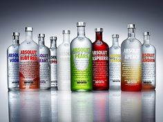 Absolute Vodka ... many flavors