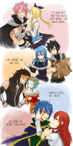 Together forever!!! Nalu , Gruvia , Gale and Jerza :) Wherever We Go - Fairy Tail by SunHee2244