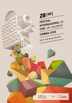 28th Cinema Jove Film Fest by Casmic Lab #graphic #design #poster #movie