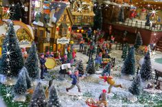 Our 2014 Lemax Christmas village display  Visit our christmas blog on audreychristmascarol.blogspot.fr #lemax #christmasvillage #display